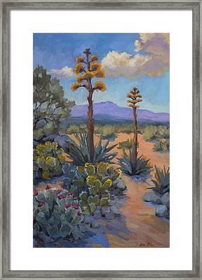 Desert Century Plants Framed Print by Diane McClary