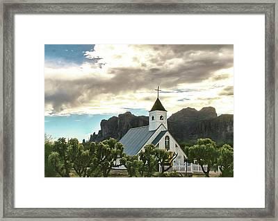 Desert Church Framed Print by Kari Brooks