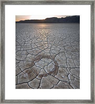 Desert Circle Framed Print by Leland D Howard