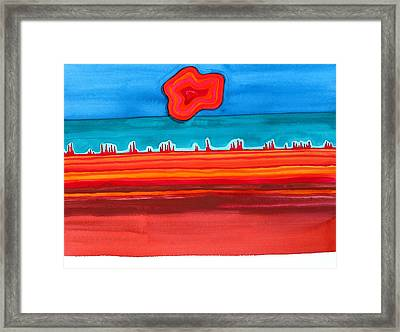 Desert Cities Original Painting Sold Framed Print by Sol Luckman