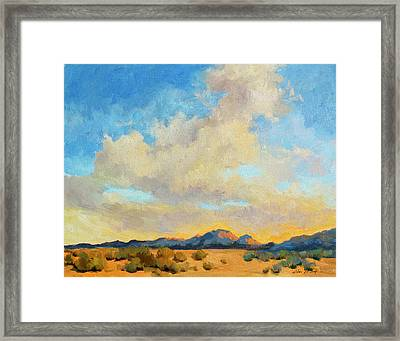 Desert Clouds Framed Print by Diane McClary