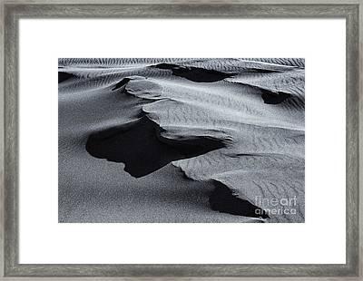 Desert Contours Framed Print