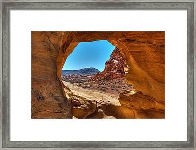 Desert Crevice Framed Print