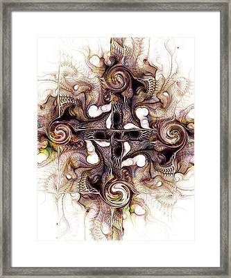 Desert Cross Framed Print by Anastasiya Malakhova
