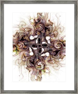 Desert Cross Framed Print