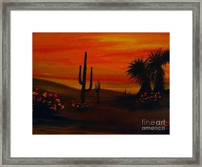 Desert Dance Framed Print by Becky Lupe