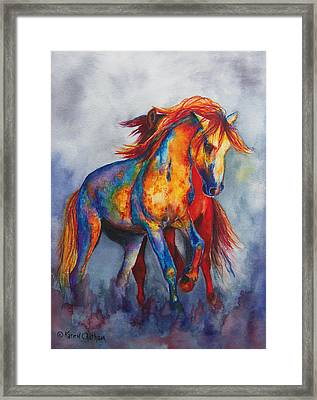Framed Print featuring the painting Desert Dance by Karen Kennedy Chatham