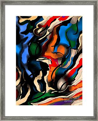 Desert Descent Framed Print by Jose Benavides