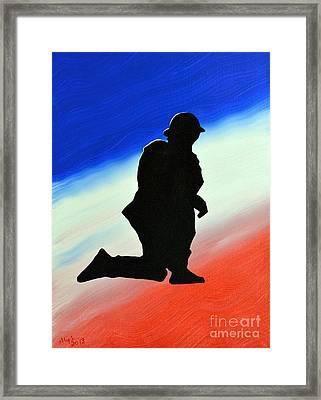 Desert Duty II Framed Print by Alys Caviness-Gober