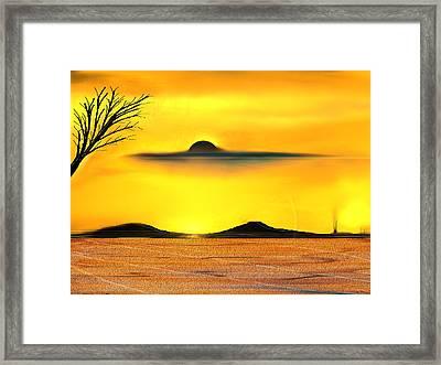 Desert Eclipse Framed Print by Yul Olaivar