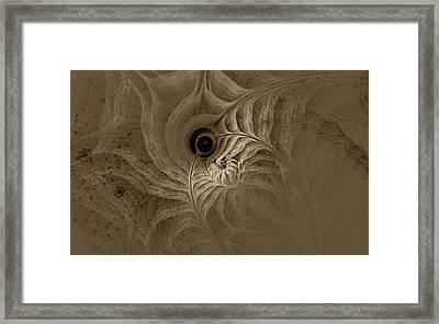 Desert Etching Framed Print