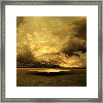 Desert Evening Framed Print