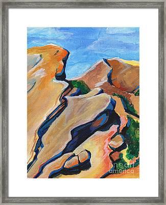Desert Faces Framed Print