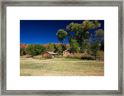 Framed Print featuring the photograph Desert Field by Dave Files