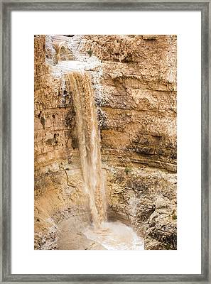 Desert Flash Flood Framed Print by Photostock-israel
