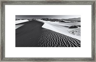 Framed Print featuring the photograph Desert Flow by Patrick Downey