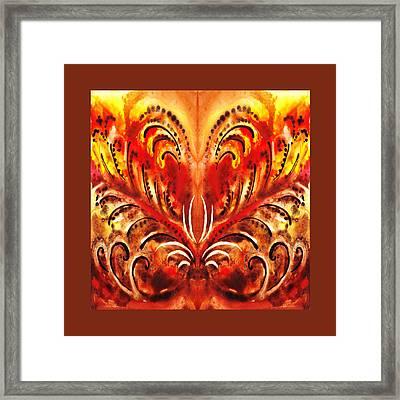 Desert Flower Abstract  Framed Print by Irina Sztukowski