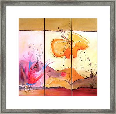 Desert Flower Framed Print by Doris Cohen