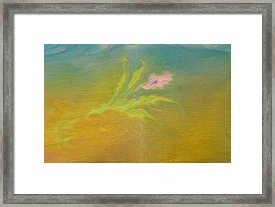 Framed Print featuring the painting Desert Flower by Mike Breau