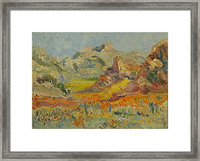 Framed Print featuring the painting Desert Flowers by Thomas Bertram POOLE