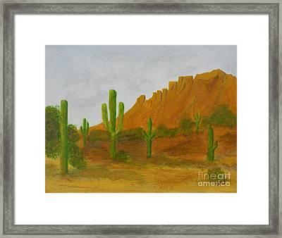 Desert Forest Framed Print