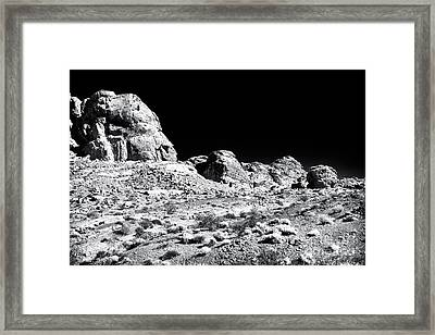 Desert Formation Framed Print by John Rizzuto