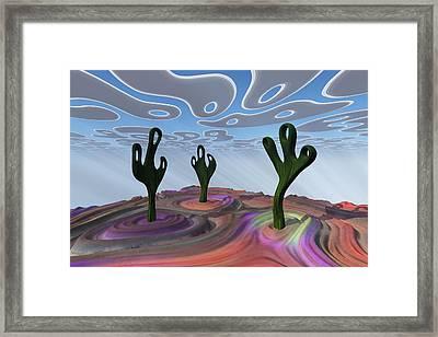Desert Gathering Framed Print