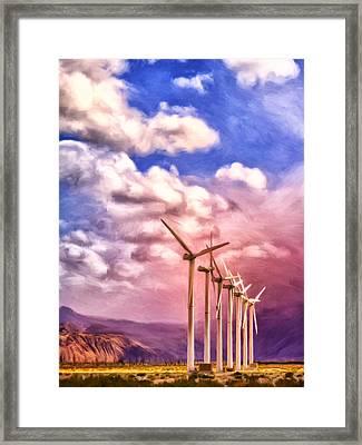 Desert Giants Framed Print