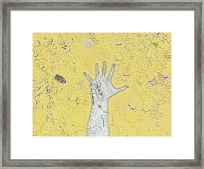 Desert Hand Framed Print