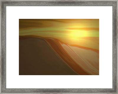 Desert Heat 3 Framed Print by Jennifer Muller