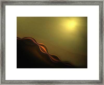 Desert Heat I Framed Print by Jennifer Muller