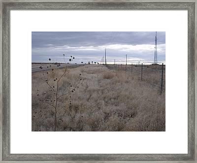 Desert Highway Framed Print by Angela Stout