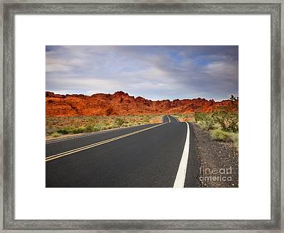 Desert Highway Framed Print by Mike  Dawson