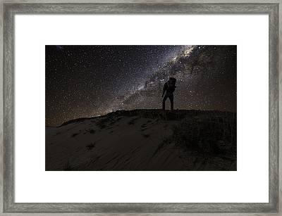 Desert Hiking Framed Print