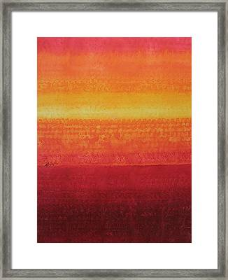 Desert Horizon Original Painting Framed Print by Sol Luckman