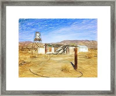 Desert House Framed Print by Lewis Mann
