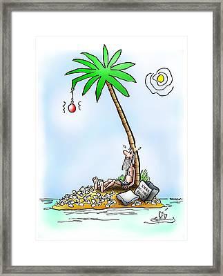 Desert Island Christmas Framed Print