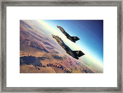 Desert Jolly Rogers Framed Print