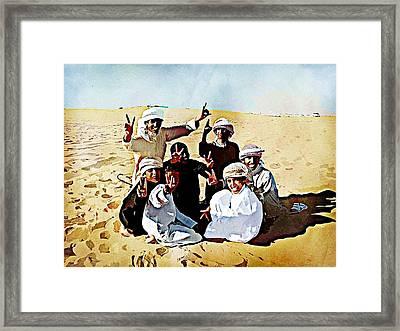 Desert Kids Framed Print by Peter Waters