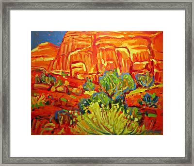 Desert Landscape Framed Print by Brian Simons