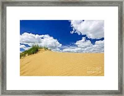 Desert Landscape In Manitoba Framed Print