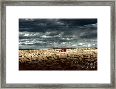Framed Print featuring the photograph Desert Landscape by Julie Lueders