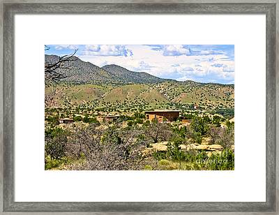 Framed Print featuring the photograph Desert Landscape by Lawrence Burry
