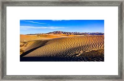 Desert Lines Framed Print by Chad Dutson