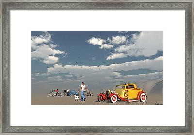Desert Meeting Framed Print by Ken Morris