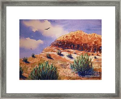 Desert Mesa Framed Print