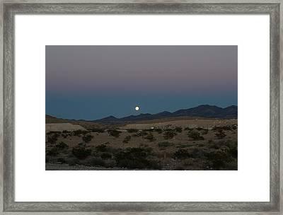 Desert Moon-1 Framed Print