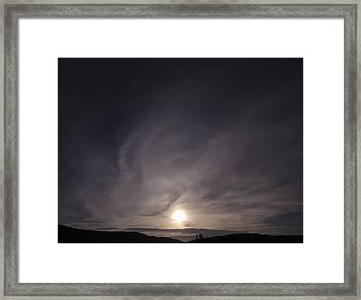 Desert Moon Rising Framed Print by Stellina Giannitsi