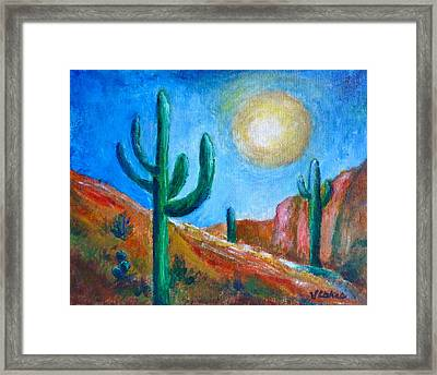 Desert Moon Framed Print by Victoria Lakes