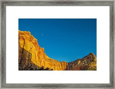 Desert Moonrise Framed Print